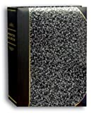 Pioneer Photo Albums 50-Pocket Silver Marble and Black Ledger Style Leatherette Cover Photo Album for 5 by 7-Inch Prints