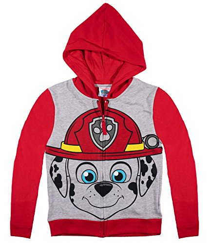 official-paw-patrol-boys-hoodie-hooded-top-jumper-red-marshall-3-years