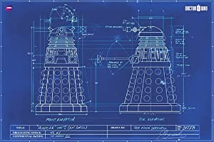 Doctor Who Poster Dalek Blueprint 91 5cm X 61cm Amazon