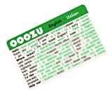 OOOZU Italian Language Card - phrasebook alternative Keep the essential words in your wallet, purse or pocket Light to carry, quick to use, made from biodegradable plastic Easy alternative to an Italian phrase book, Italian dictionary, mobile phone