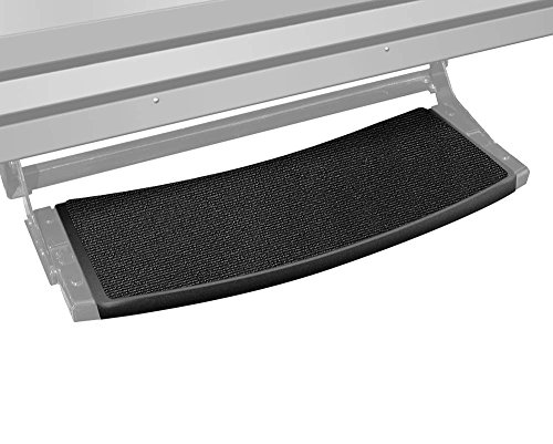 Prest-O-Fit 2-0374 Outrigger Radius RV Step Rug Black Onyx 22 In. Wide