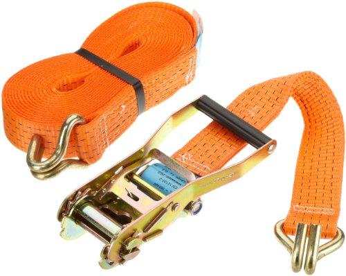 Rewwer-Tec (956128) 26505034/8M, Cinghia di ancoraggio con tenditore a cricchetto e ganci 8 m,50 mm, daN5000