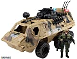 Memtes® Military Fighter Army Truck Tank Toy with Mini Army Soldier with Lights and Sound