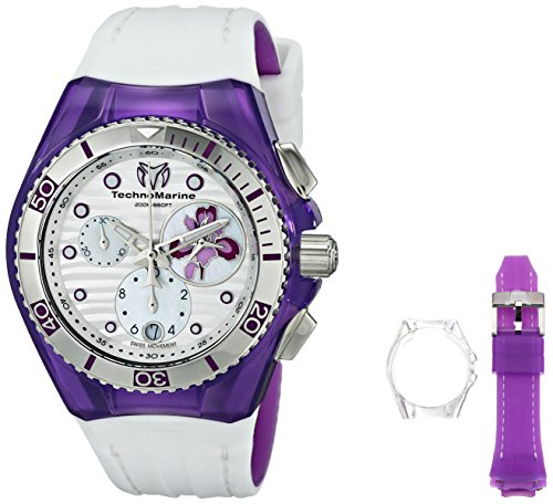 technomarine-womens-quartz-watch-with-white-dial-chronograph-display-and-white-silicone-strap-114004