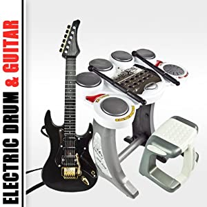 Electronic Toy Drum Set Digital Pad Music Kids Guitar Rock Band Musical Boy Girl
