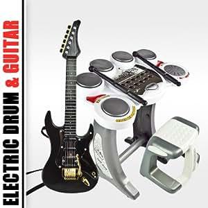 Electronic Toy Drum Set Digital Pad Music Kids Guitar Rock Band Musical Boy Girl