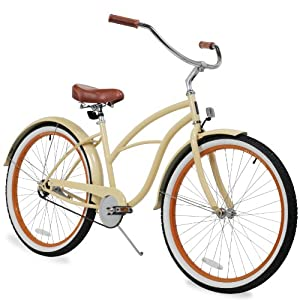 sixthreezero Women's 26-Inch Beach Cruiser Bicycle, 1-Speed, Scholar Cream