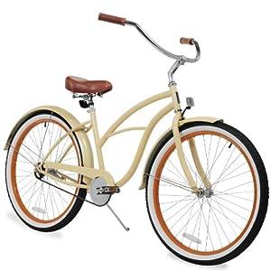 sixthreezero Women's 26-Inch Beach Cruiser Bicycle, 1-Speed, Scholar Cream
