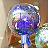 Garden sphere from glass blue