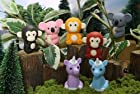 Iwako Japanese Erasers / Jungle Animals 7 pcs.