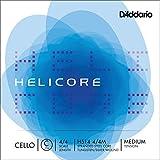 D\'Addario Bowed Corde seule (Do) pour violoncelle D\'Addario Helicore, manche 4/4, tension Medium
