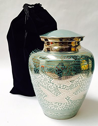 Full Size, Adult Human Going Home Funeral Cremation Urn, Memorial Urns w/velvet bag (Urns Full Size compare prices)