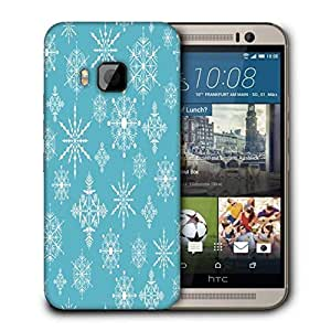 Snoogg Christmas Spring Blue Printed Protective Phone Back Case Cover For HTC One M9