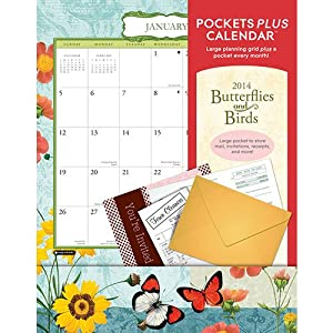 Butterflies & Birds 2014 Pocket Wall Calendar