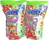 Morinaga Hi-Chew 100+ Assorted Individually Wrapped Fruit Chews Grape Strawberry Mango Green Apple 17.64 oz (Pack of 2)