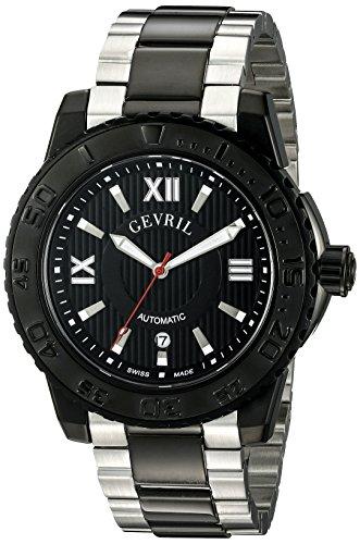 Gevril Hombre 3110B seacloud Reloj de Pantalla de dos tonos analógico