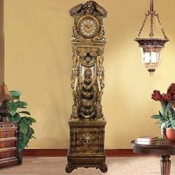 French Grandfather Floor Clock Water Fountain Fog Mist Maker,led Light Home Room Decor