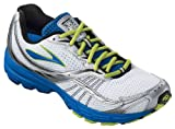 Brooks Men&#039;s Launch Running Shoe,Olympic/Silver/Lime Green/Black/White,14 D US