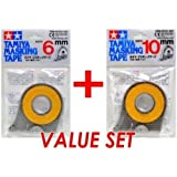 Tamiya 87030 Masking Tape 6mm & 87031 10mm Value Set - Pack of 5 (Tamaño: Pack of 5)