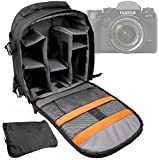 DURAGADGET SLR Camera Backpack / Rucksack With Adjustable Interior & Raincover For The Fujifilm X-T1 Compact System Camera, FinePix SL1000 Digital Camera & FinePix SL260 Digital Camera - Black (14MP , 26 x Optical Zoom) 3 inch LCD