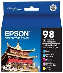 Epson Claria T098920 98 Extra High-capacity Inkjet Cartridge Color Multipack-Cyan/Light Cyan/Magenta/Light Magenta/Yellow