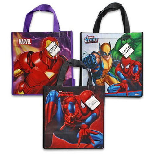 3 Assorted Spiderman Iron MAN Marvel Heroes Non Woven Bag-medium - 1