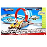Hot Wheels Motorized 6 in 1 Track Set with 8 Cars Included. Toys R Us Exclusive Kidpicks 2009 Super Car Race Set of 8 Cars and 6 Layouts.
