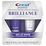Crest 3D White Brilliance Toothpaste, Teeth Whitening and Deep Cleansing via Daily Two-Step System, 4.0 Oz and 2.3 Oz Tubes