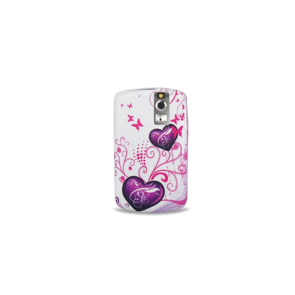 Purple Heart Butterfly Soft Silicone Skin Gel Cover Case for Blackberry Curve 8300 8310 8330