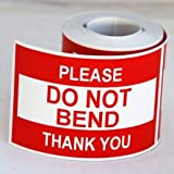 300 2x3 Please Do Not Bend Thank You Labels / Stickers