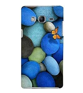EPICCASE marble and butterfly Mobile Back Case Cover For Samsung Tizen Z3 (Designer Case)