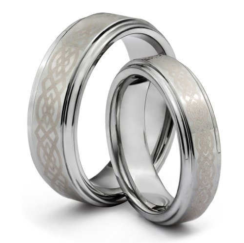 His & Her's 8MM/6MM Tungsten Carbide Wedding