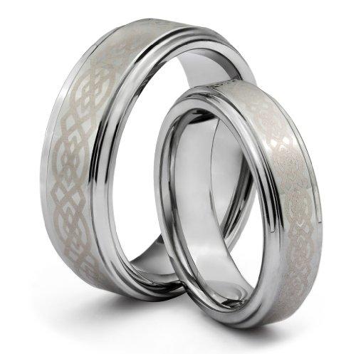 His & Her's 8MM/6MM Tungsten Carbide Wedding