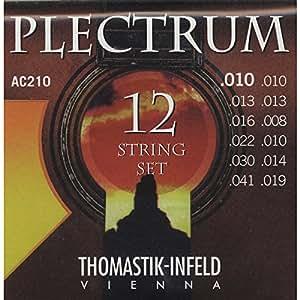 Thomastik-Infeld AC210 Acoustic Guitar Strings: Plectrum Series 12 String Set E, E, D, D, G, G, D, D, A, A, E, E
