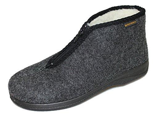 inter-max-hombre-zapatillas-con-cremallera-forro-lana-virgen-fieltro-antracita-color-negro-talla-45-