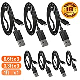 Micro USB Cable, COCOCAT [7-Pack]Premium Micro Charging Cable High Speed USB 2.0 A Male to Micro B 2.0 A Male to Micro B Sync and Charging Cables for Android, Samsung, HTC, Motorola, Nokia and More