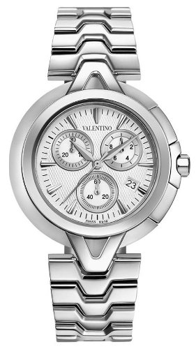 ValentinoV-Valentino Chronograph Stainless Steel Mens Casual Watch Silver Dial V51LCQ9902-S099