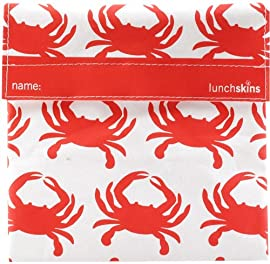 Reusable Cloth Sandwich Bag - Orange Crab