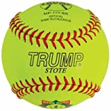 Trump® FP-11Y-BR 11 Inch Yellow Leather Babe Ruth Fastpitch Softball (Sold in Dozens)