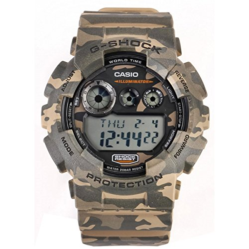 Casio G-Shock Unisex Analogue Watch with Green Dial Analog - Digital Display - GD-120CM-5ER