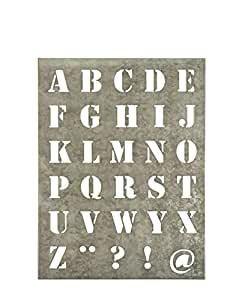 Buchstabenschablone Schablone aus Zink