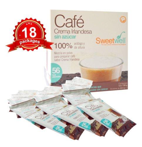 Sweetwell Sugar Free Irish Cream Coffee Instant Mix - 18 Units.