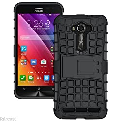 Pikimania Hybrid Dual Armor Kick Stand Back Cover Case for Asus Zenfone 2 Laser ZE500KL