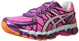 ASICS Women's Gel Kayano 20 Running Shoe,Pink/White/Purple,9 M US