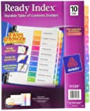 Avery Ready Index Table of Contents Dividers, 10-Tab Set, 1 Set (11135)