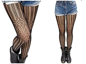 AmazingOS® Women Sexy Fish Net Lace Floral Print Pantyhose Tights Leopard Stockings