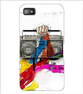 PrintDhaba Radio D-3449 Back Case Cover for BLACKBERRY Z10 (Multi-Coloured)