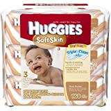 Huggies Soft Skin Baby Wipes, Soft Pack, with Shea Butter 56 Ct (3 Packs) 168 Total Wipes