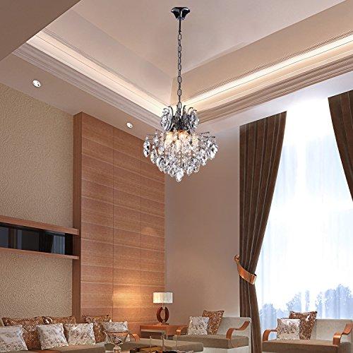 Oofay light moderne ppigen kristall kronleuchter mit 6 for Moderne leuchten wohnzimmer