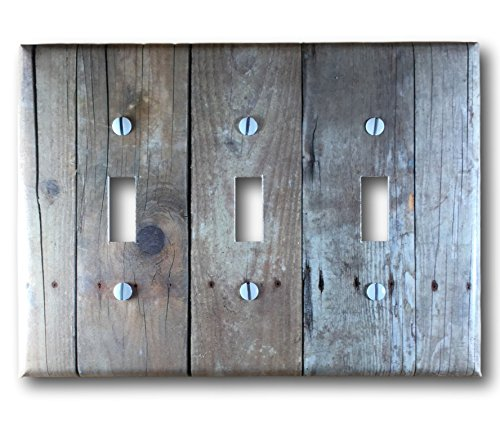 barn-wood-design-triple-toggle-light-switch-cover-wall-plate